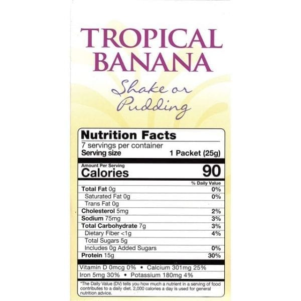 HealthSmart - High Protein Diet Pudding & Shake Mix - Tropical Banana