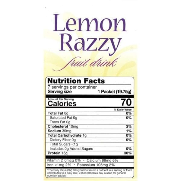HealthSmart - Lemon Razzy Protein Diet Fruit Drink